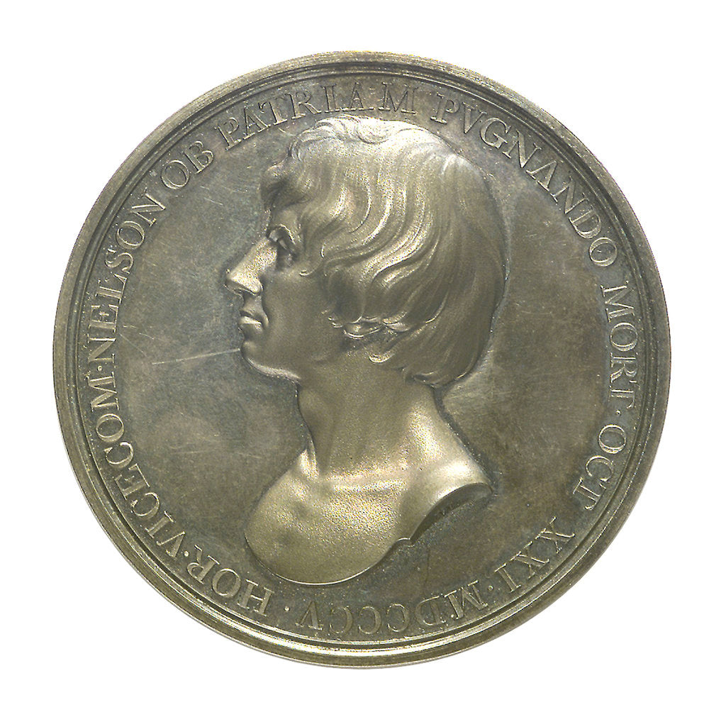 Detail of Medal commemorating Vice-Admiral Horatio Nelson (1758-1805); obverse by Thomas Webb