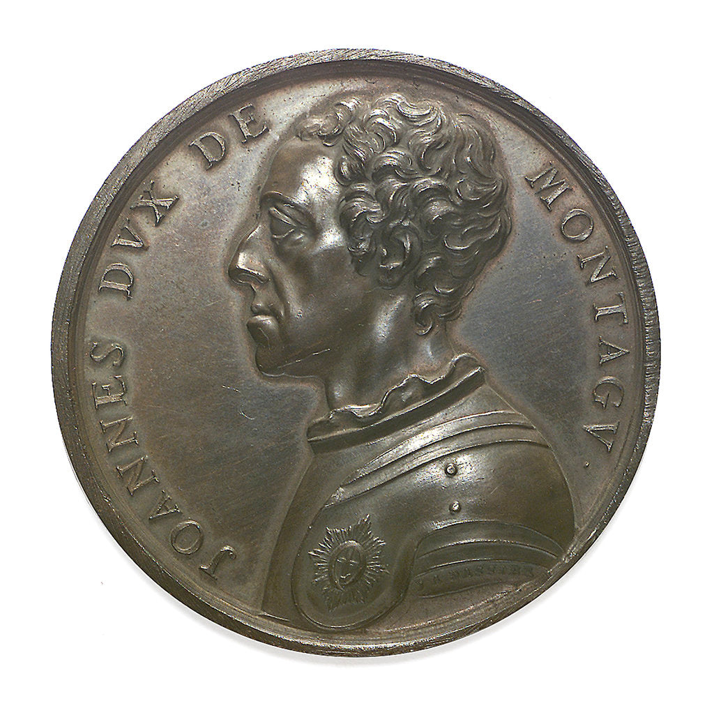 Detail of Commemorative medal depicting John, Duke of Montagu; obverse by J.A. Dassier