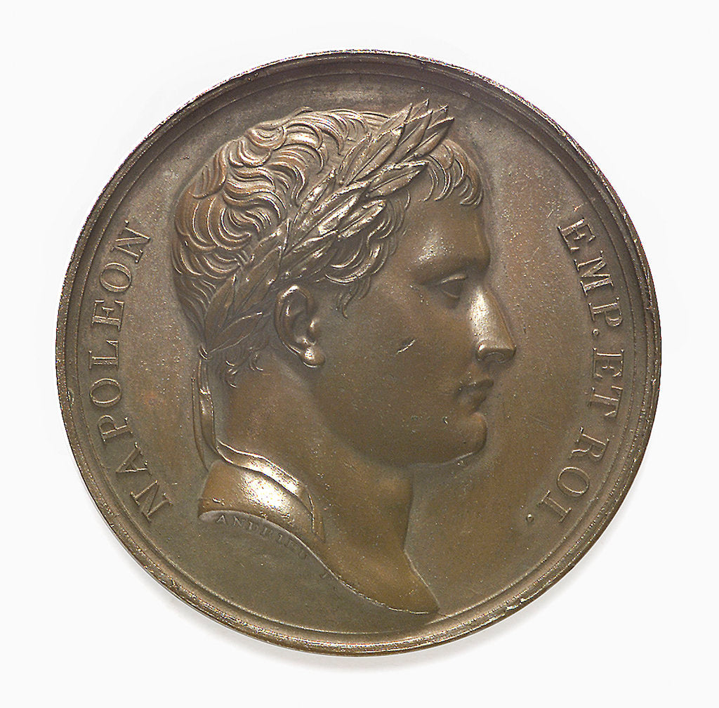 Detail of Commemorative medal depicting Napoleon I; obverse by Andrieu