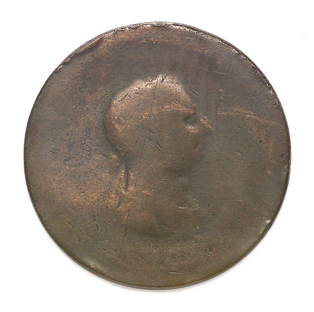 Detail of Halfpenny; obverse by unknown