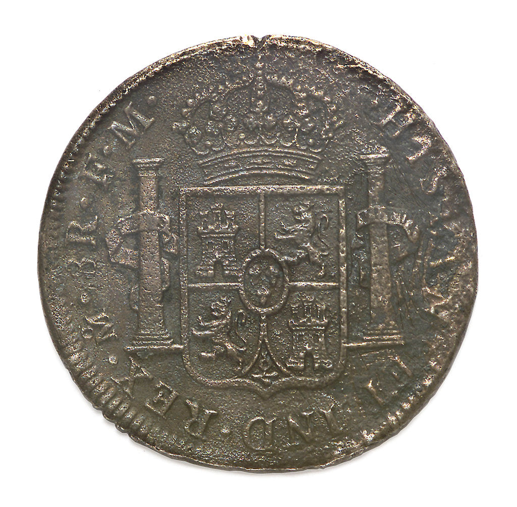 Detail of Eight reales; reverse by unknown