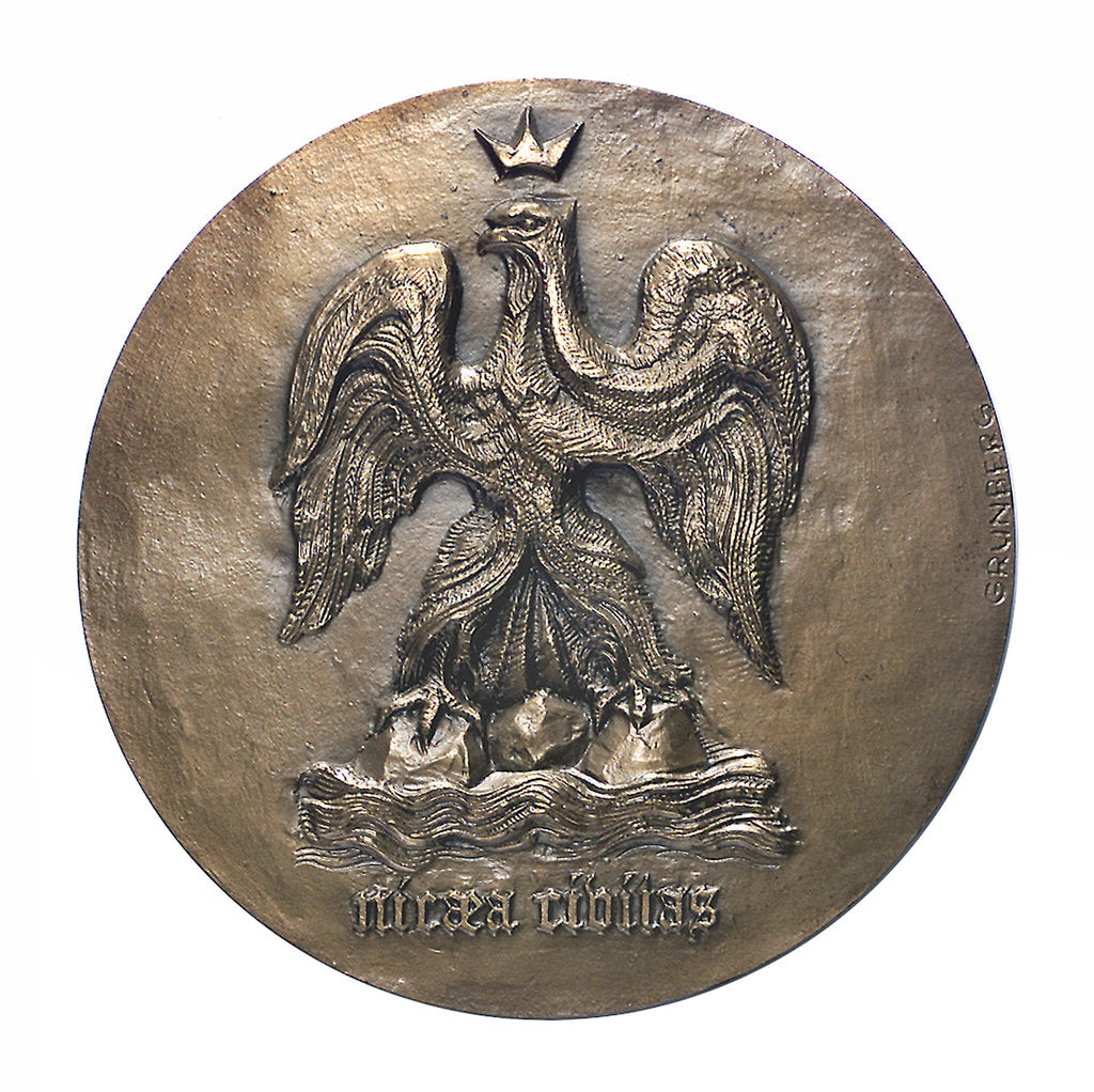 Detail of City of Nice Medal of Honour; obverse by Jules Romains