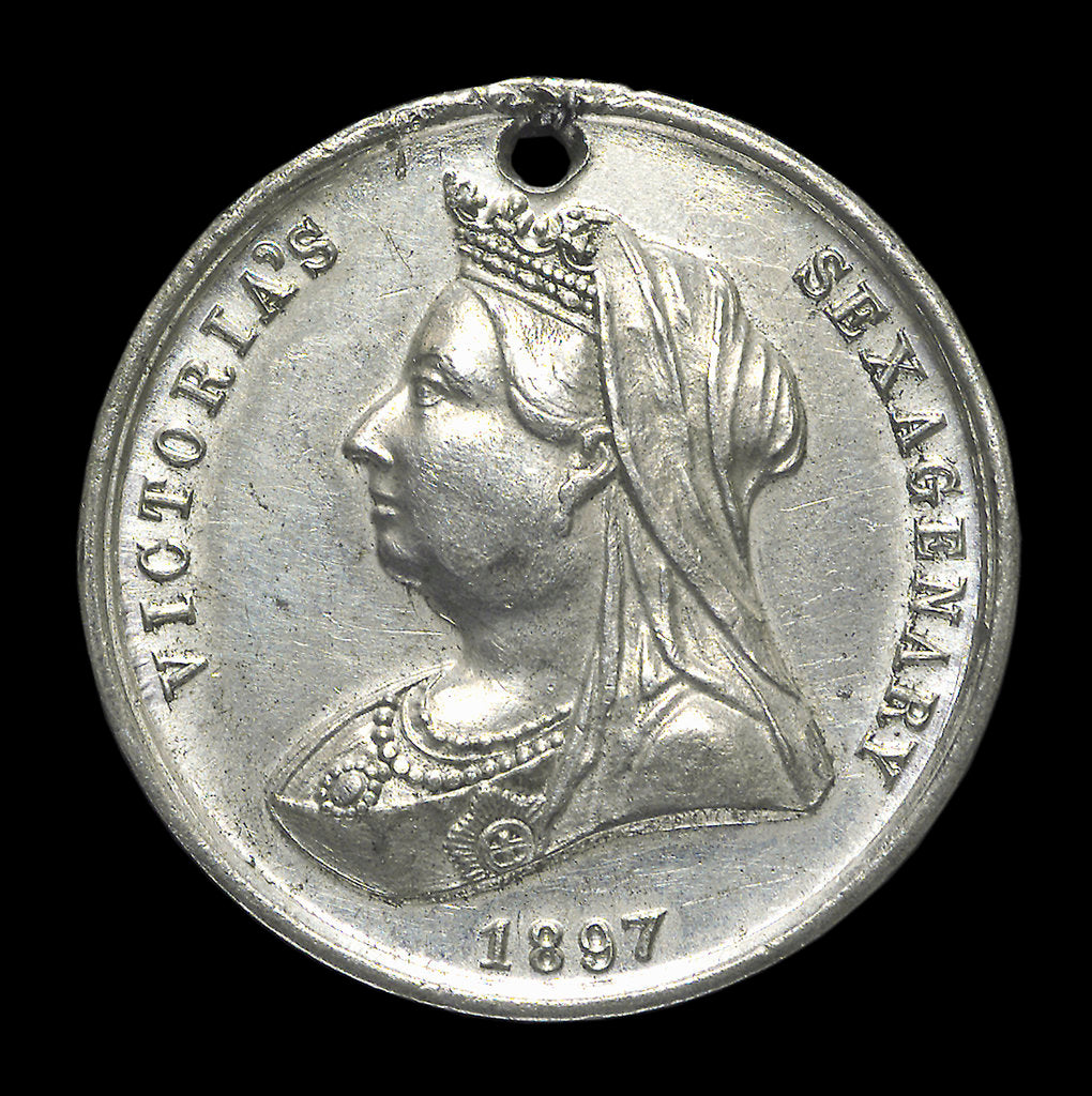 Detail of Medal commemorating Queen Victoria's Diamond Jubilee 1897; obverse by unknown