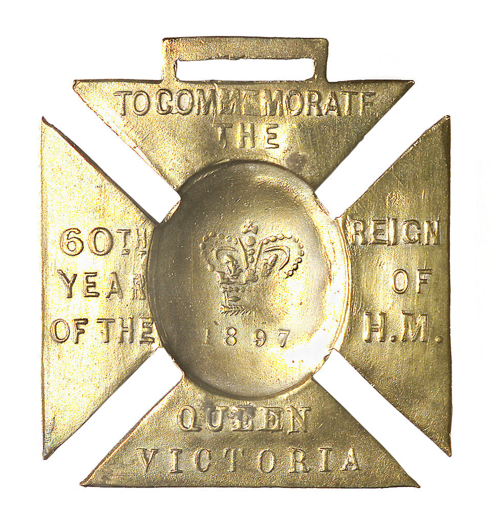 Detail of Medal commemorating Queen Victoria's Diamond Jubilee 1897; reverse by unknown