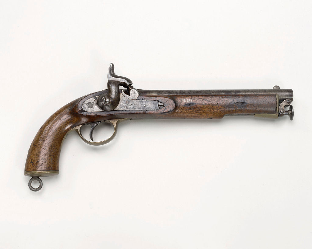 Detail of Percussion pistol, 1856 pattern by unknown