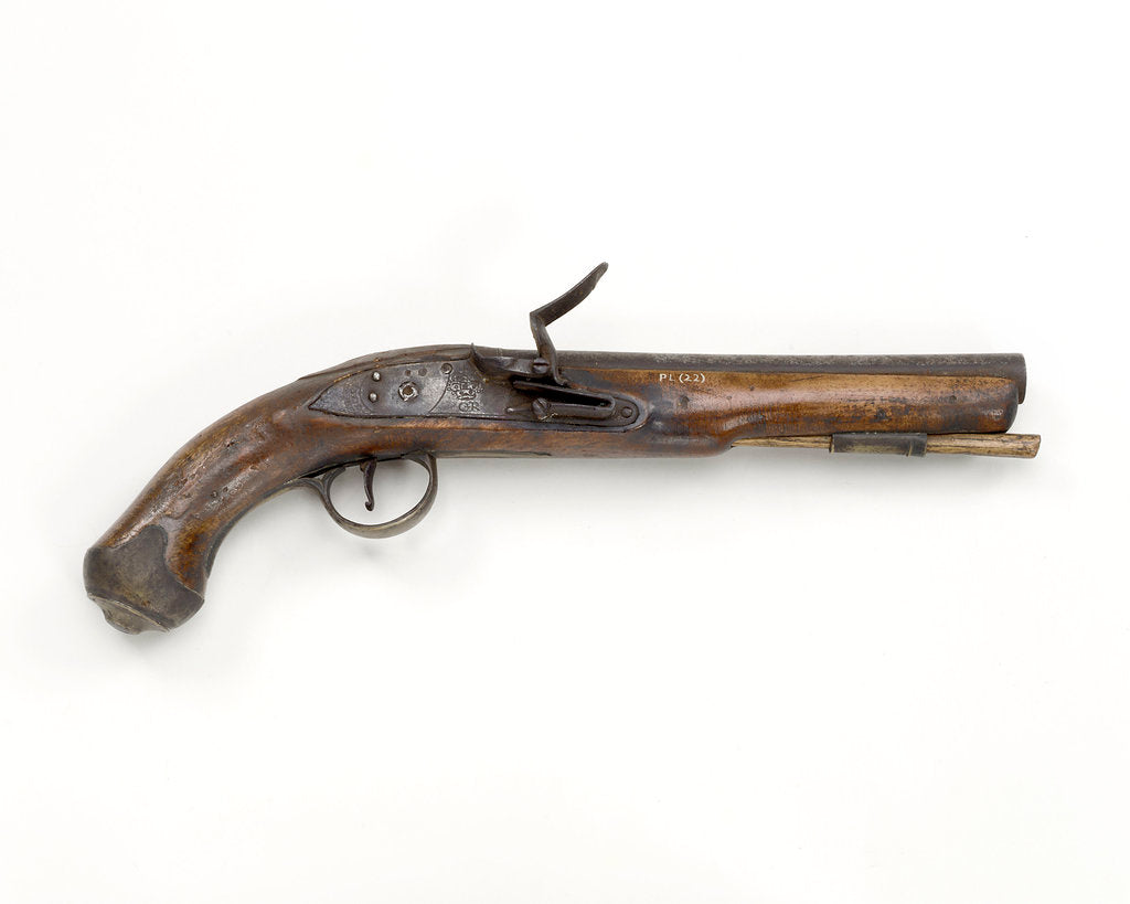 Detail of Flintlock pistol by Dublin Castle