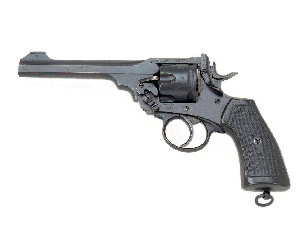 Detail of Webley Mark VI revolver by Webley & Scott Revolver & Arms Co. Ltd.