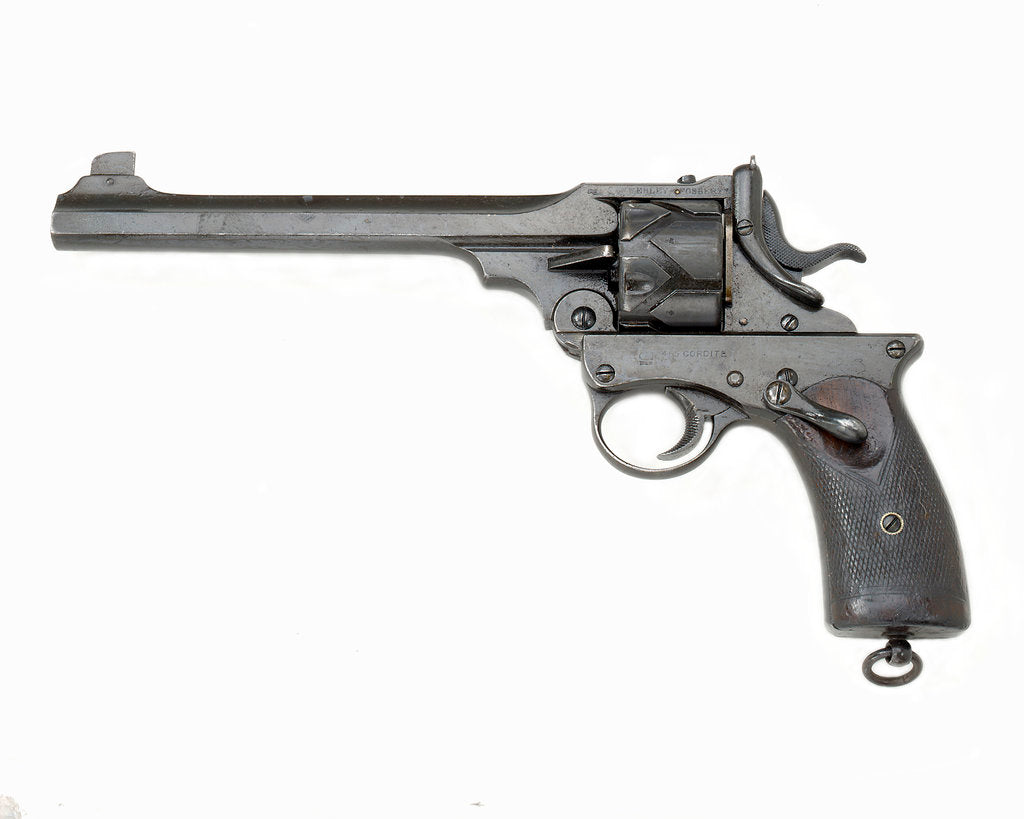 Detail of Webley Fosbery revolver by P. Webley & Sons