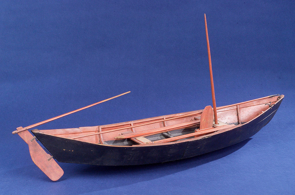 Full hull model, Bridgwater flatner, starboard stern quarter by Charles Holt