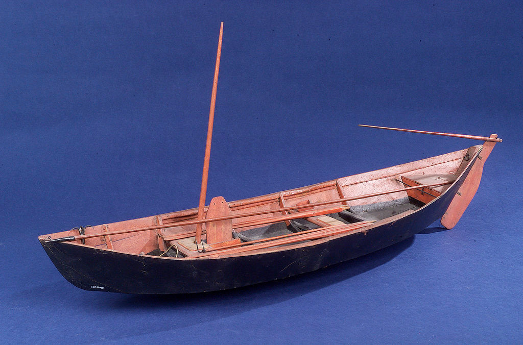 Detail of Full hull model, Bridgwater flatner, port by Charles Holt