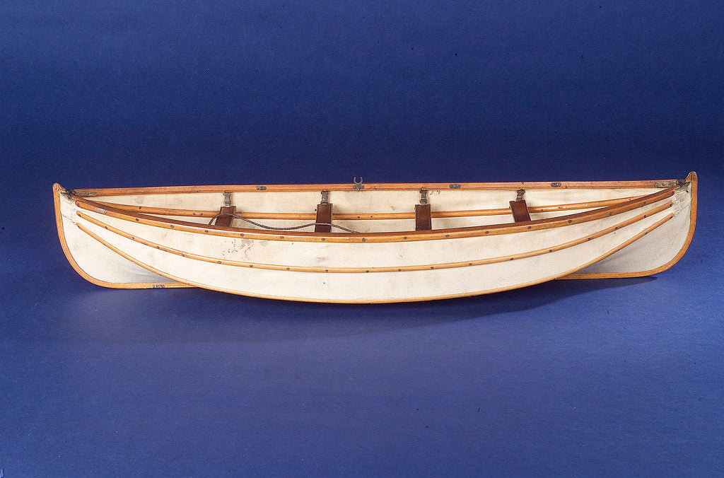 Detail of Full hull model, collapsible lifeboat, broadside by unknown