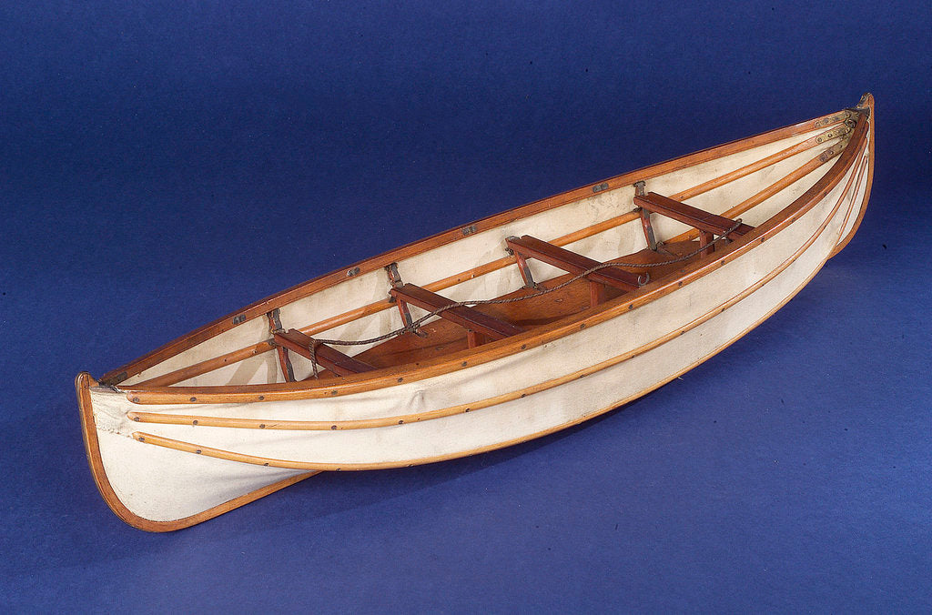 Detail of Full hull model, collapsible lifeboat by unknown
