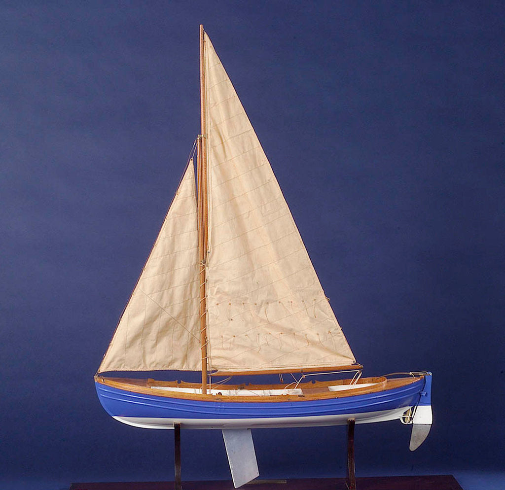Detail of Full hull model, whaler, port broadside by unknown