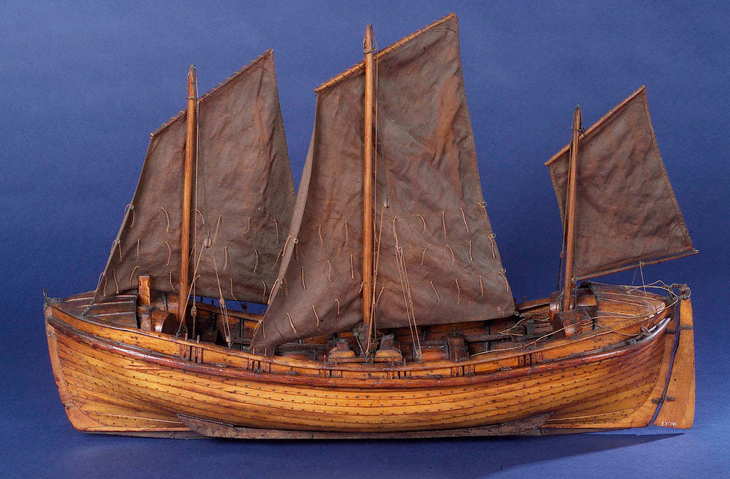 Detail of Full hull model, sailing lifeboat, port broadside by unknown