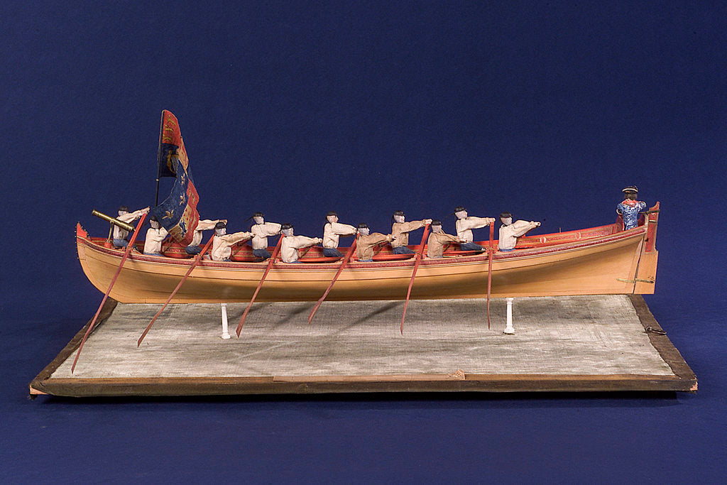 Detail of Full hull model of Admiral's Barge by unknown