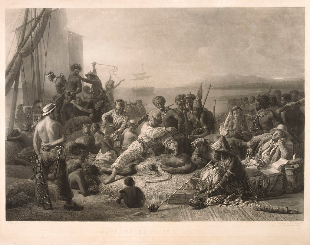 Detail of Scene on the coast of Africa by C.E. Wagstaff