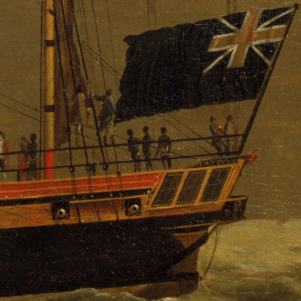Detail of Slave ship by William Jackson