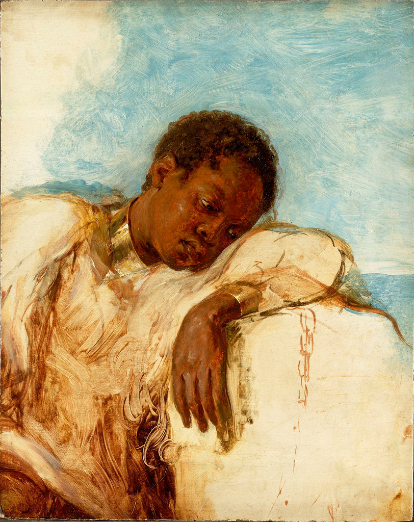 Detail of Slave in chains by British School