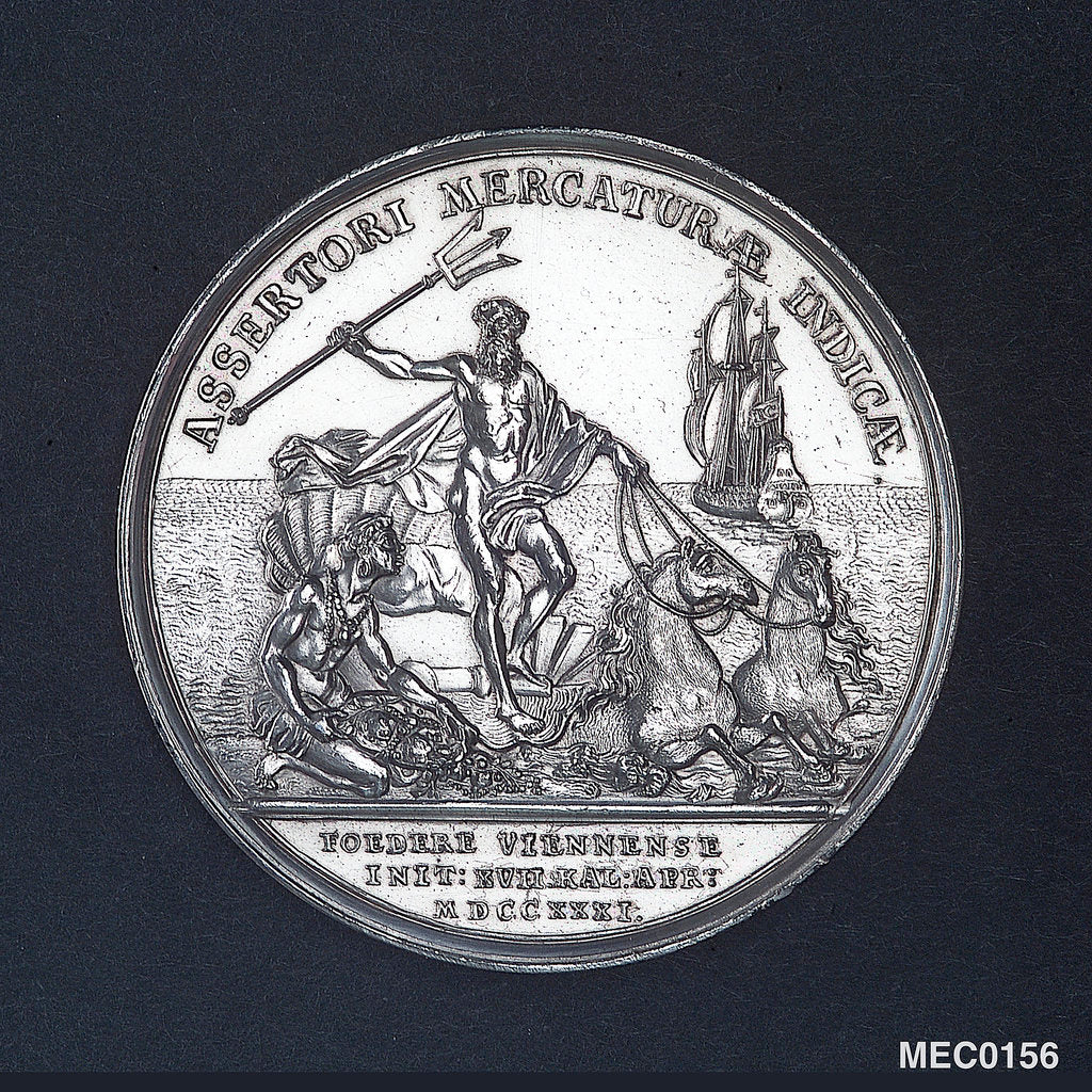 Detail of Medal commemorating the Second Treaty of Vienna, 1731 by M. Holtzhey