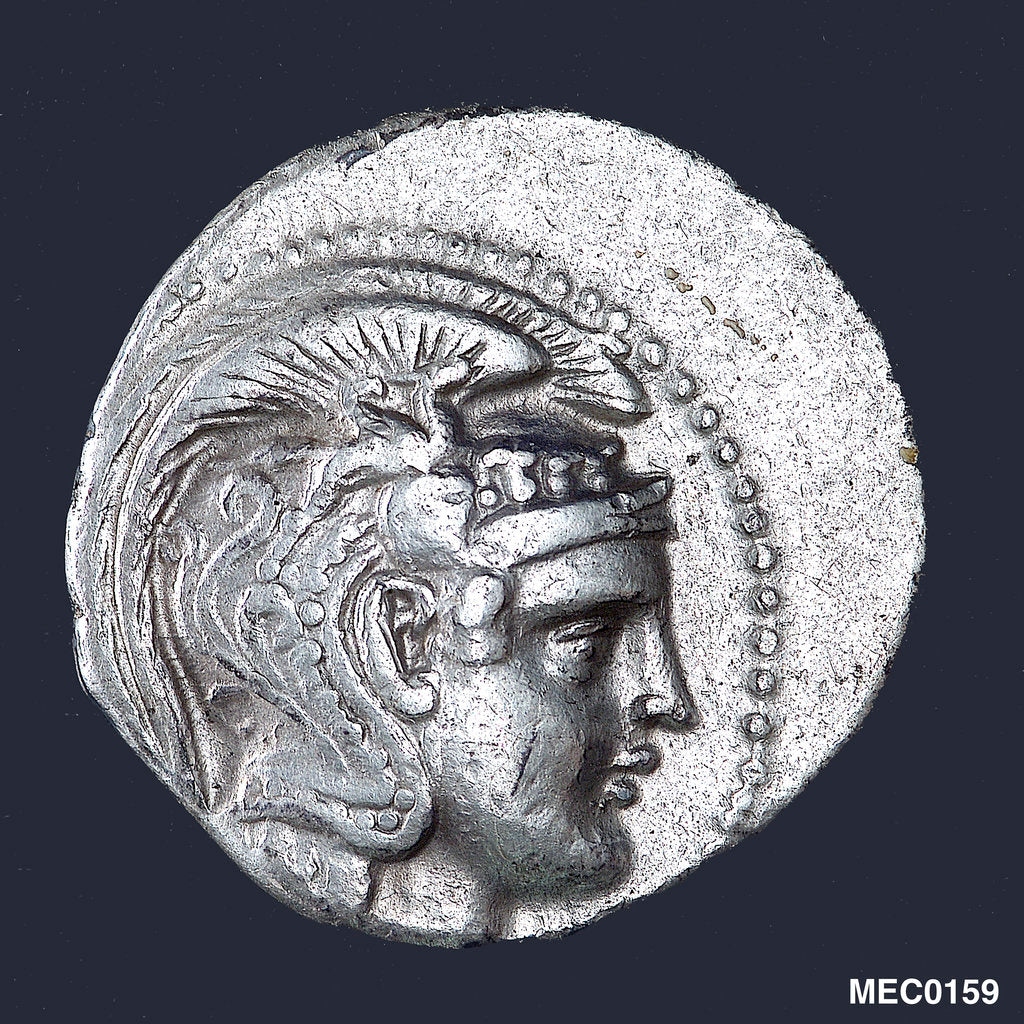 Detail of A tetradrachm commemorating the Battle of Salamis, BC480 by unknown