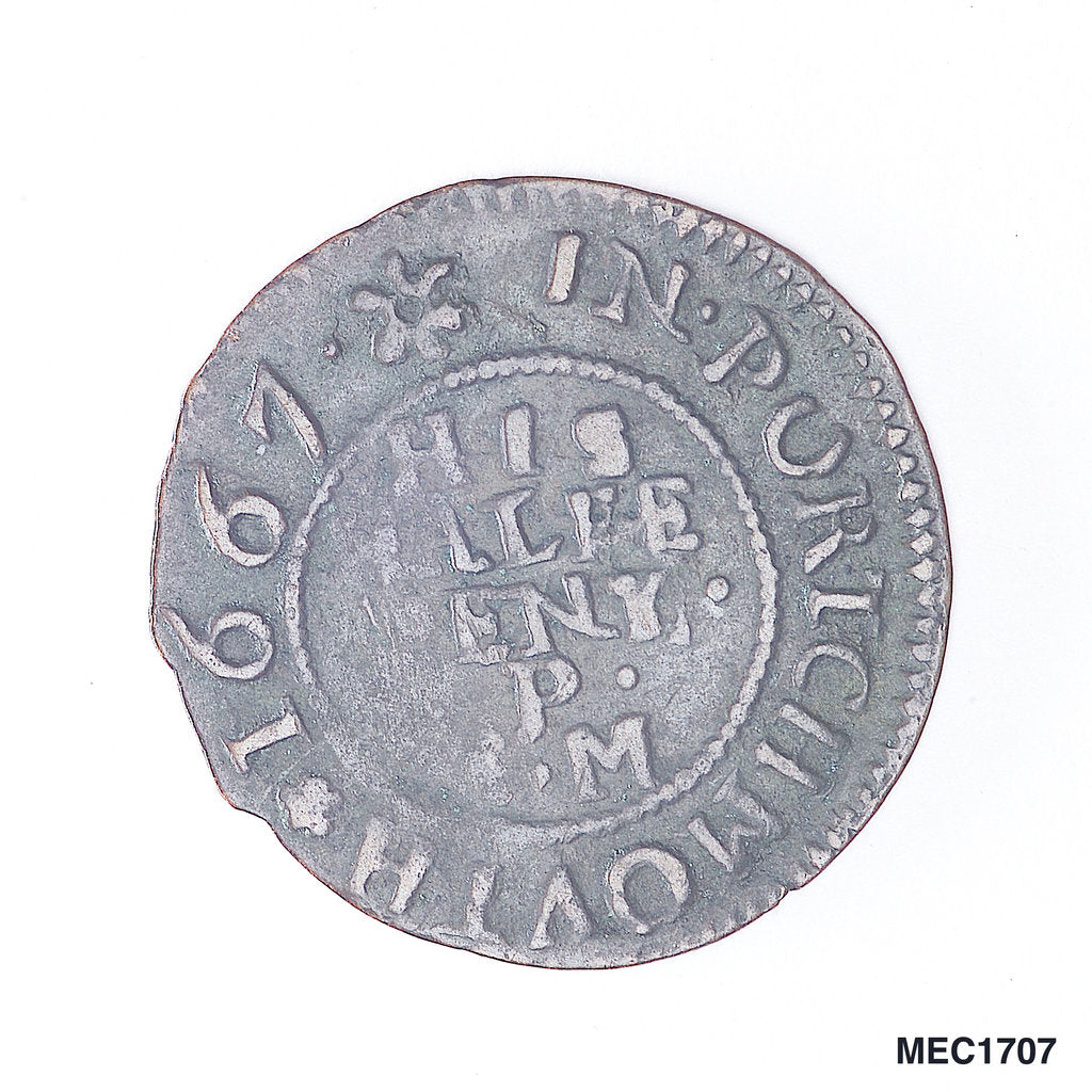 Detail of Portsmouth halfpenny token by unknown