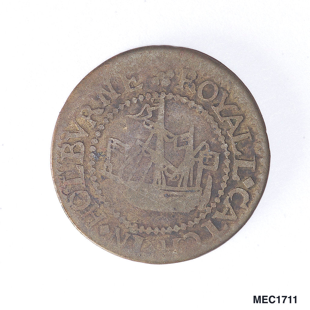 Detail of Holborn halfpenny token by unknown