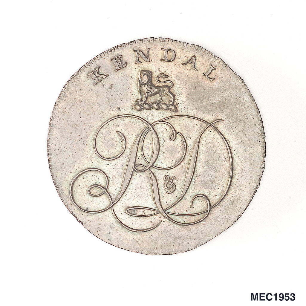 Detail of Kendal halfpenny token by unknown