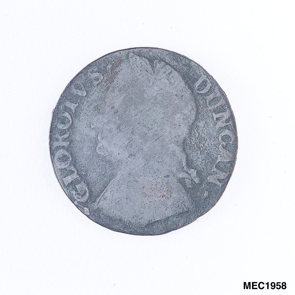 Detail of Farthing token commemorating Admiral of  the Fleet Adam Duncan (1731-1804) by unknown