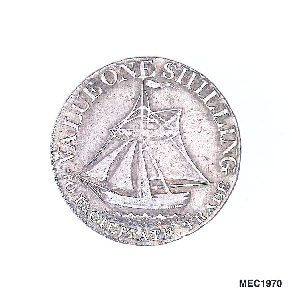Detail of Hampshire shilling token by unknown
