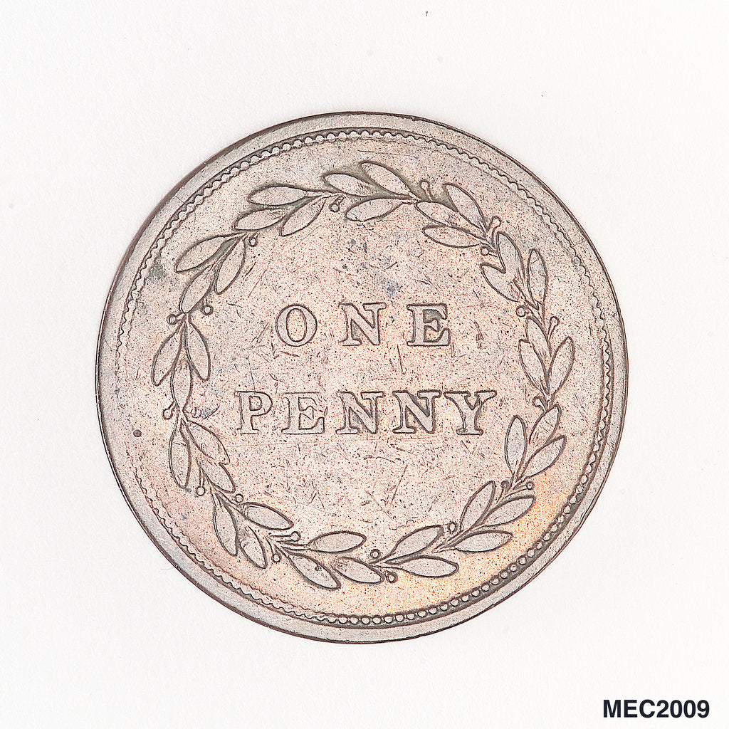 Detail of Penny token by unknown