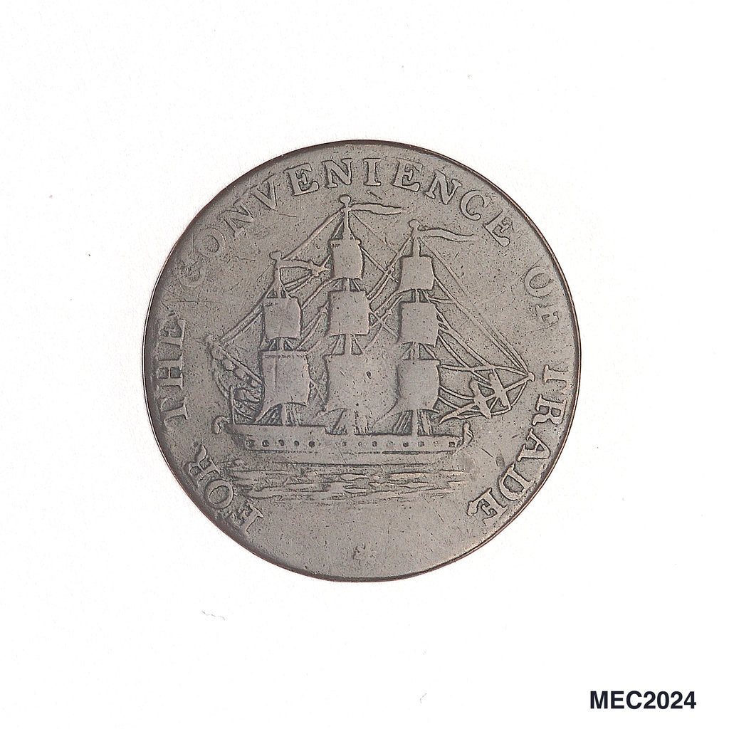 Nova Scotia halfpenny token by unknown