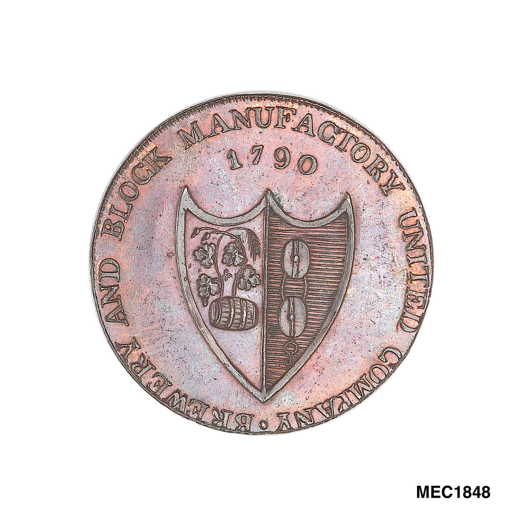 Detail of Southampton halfpenny token by unknown
