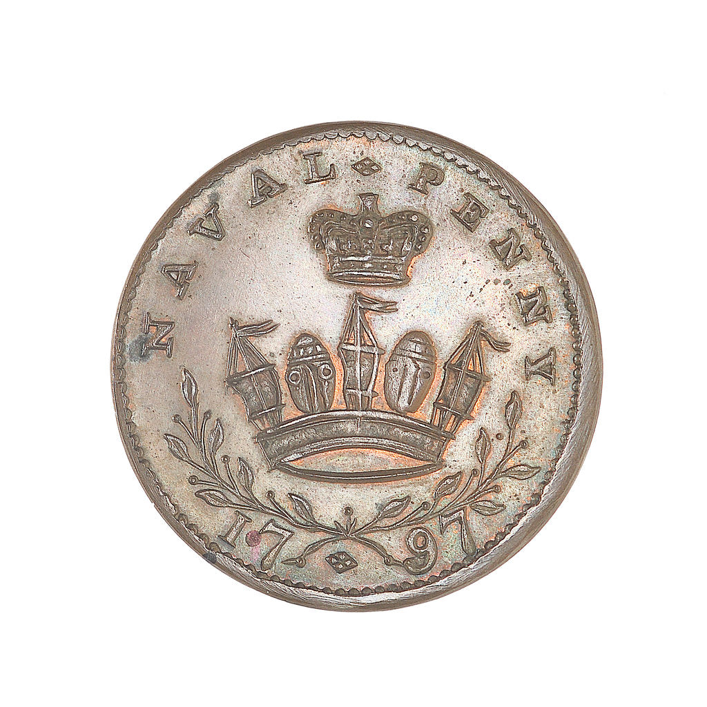 Detail of Gravesend penny token by unknown