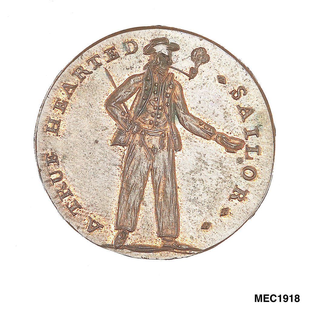 Spence's halfpenny token by C. James