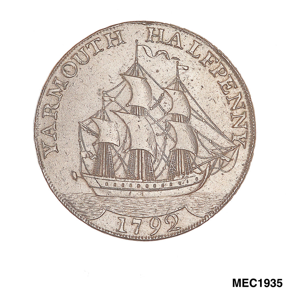 Yarmouth halfpenny token by unknown