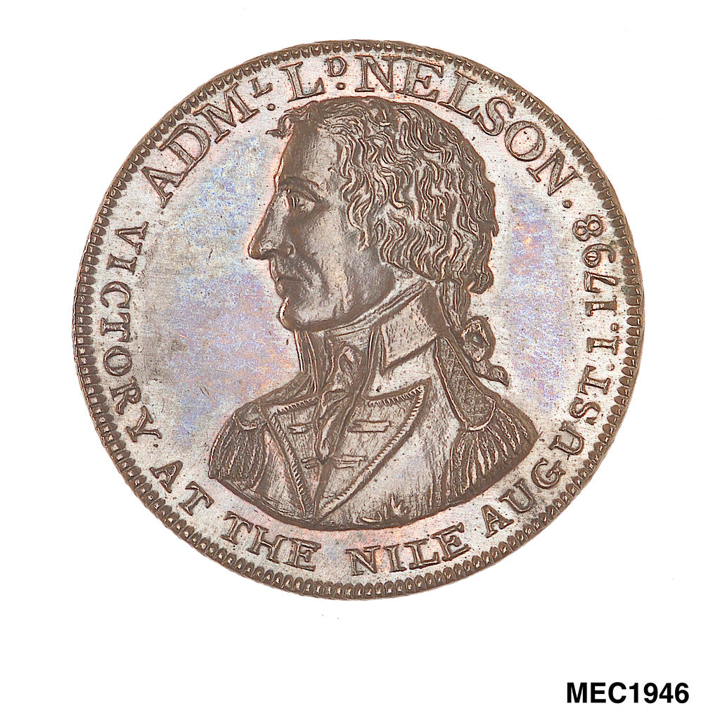 Birmingham Workhouse shilling token commemorating the battle of the Nile, 1798 by unknown