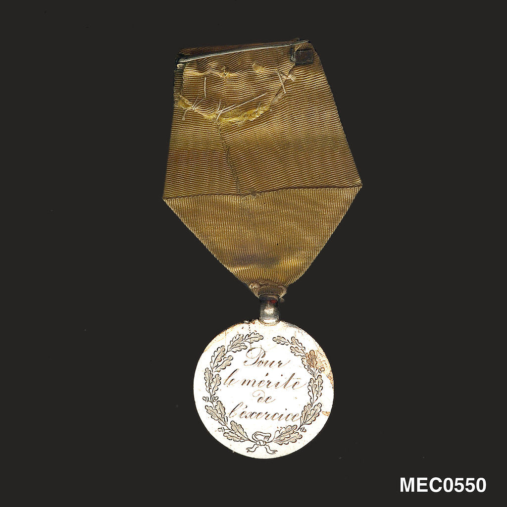 Detail of Prize medal awarded for drill by unknown