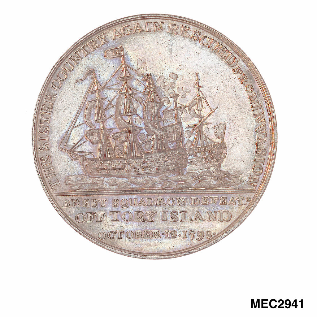 Detail of Medal commemorating Sir John Borlase Warren (1753-1822) and the action off Tory Island, 1798 by unknown