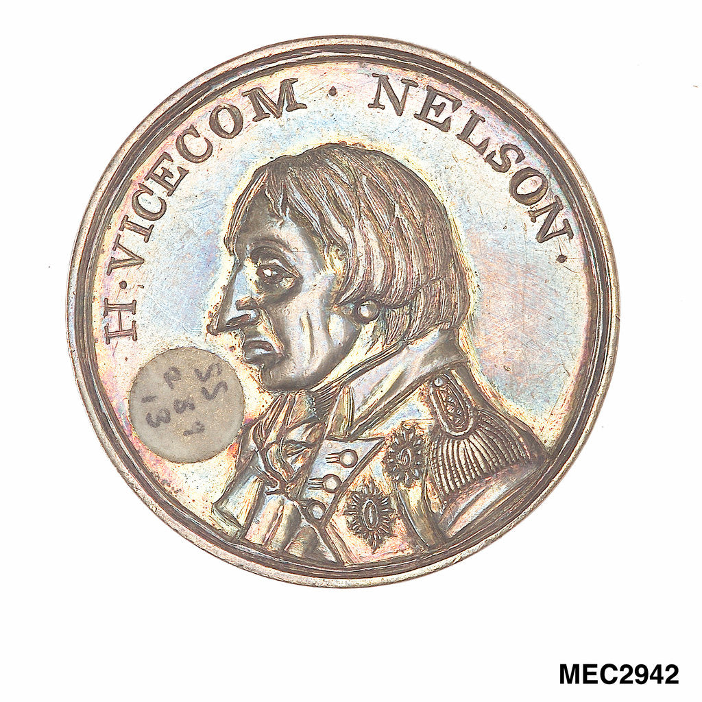 Detail of Medal commemorating Vice-Admiral Horatio Nelson (1758-1805) by unknown