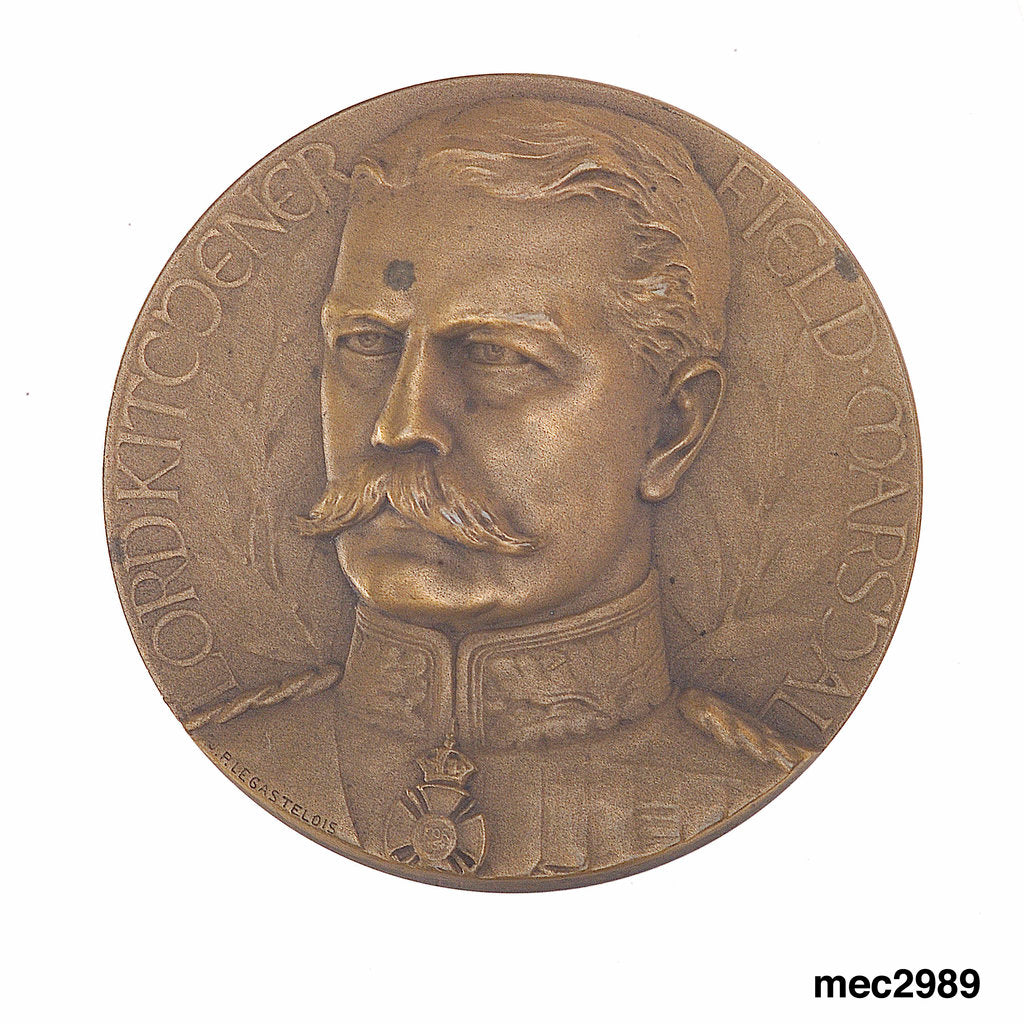 Commemorative medal depicting Horatio Herbert Kitchener (1850-1916) by Jules-Prosper Legastelois
