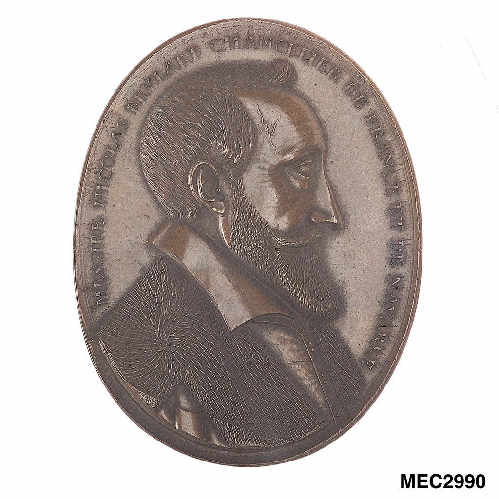 Detail of Commemorative medal depicting Nicholas Brulart by unknown