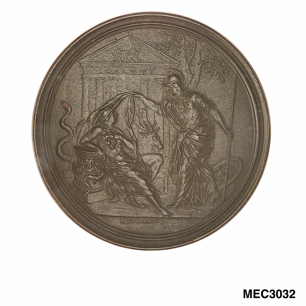 Commemorative medal depicting Francesco Redi (1626-97) by Massimiliano Soldani-Benzi