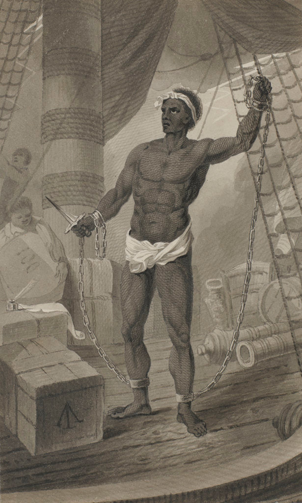Detail of Slave on deck by George Cooke