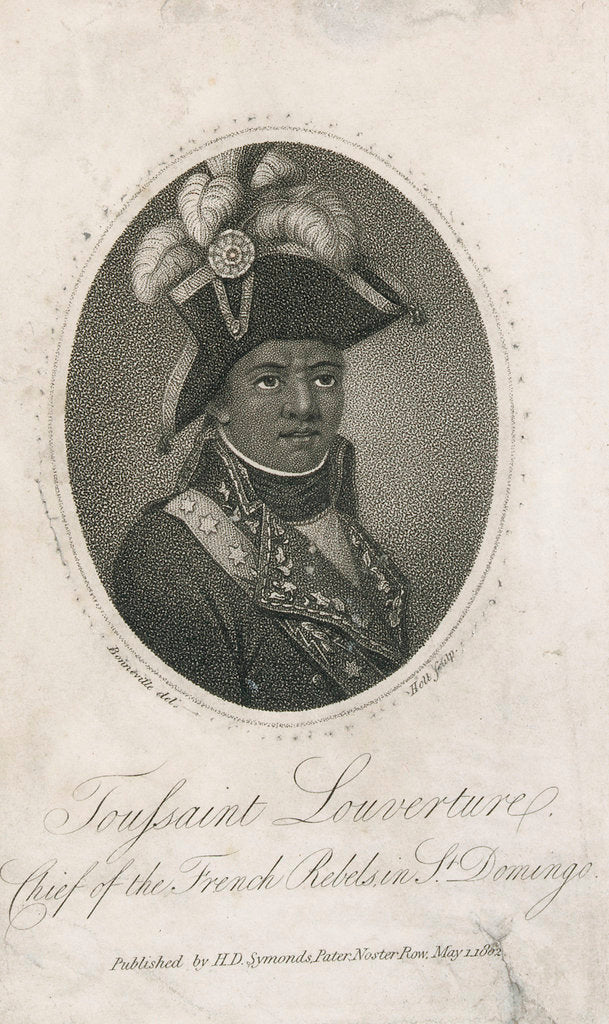 Detail of Toussaint Louverture, Chief of the French Rebels in St Domingo by Holl