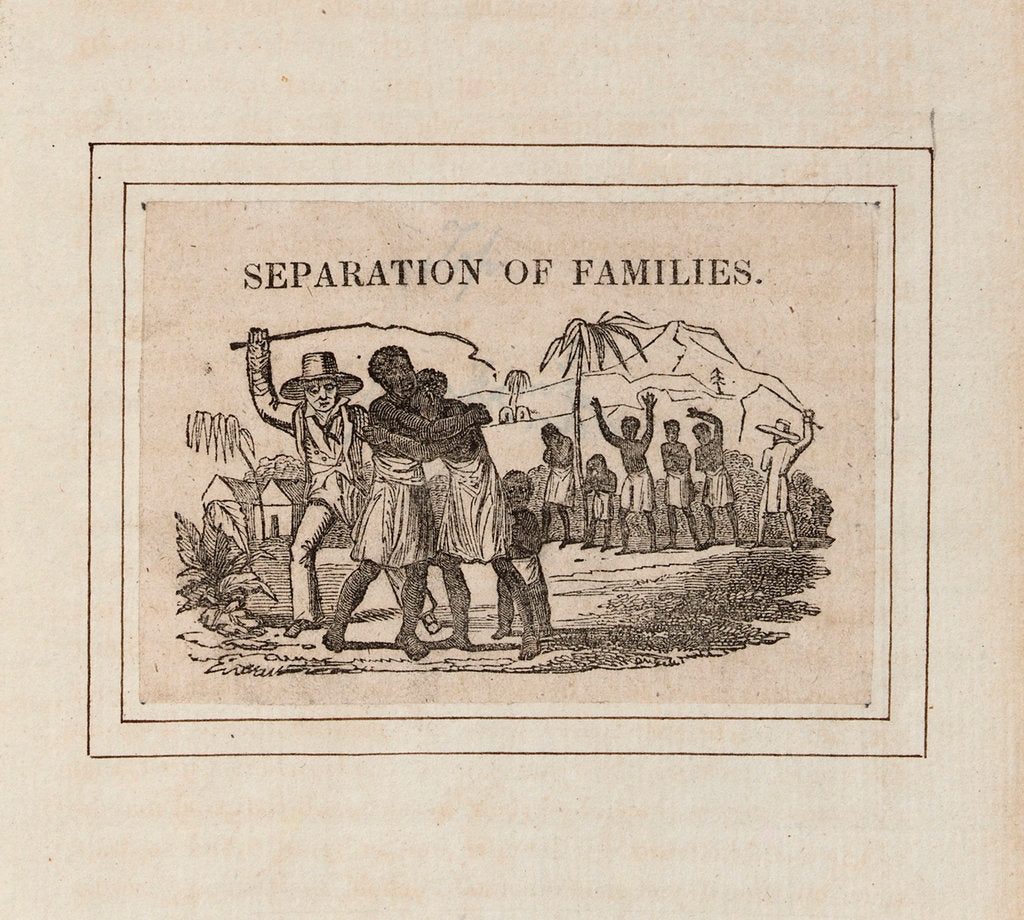 Detail of 'Separation of Families': slavers capture native Africans and send them into slavery by unknown