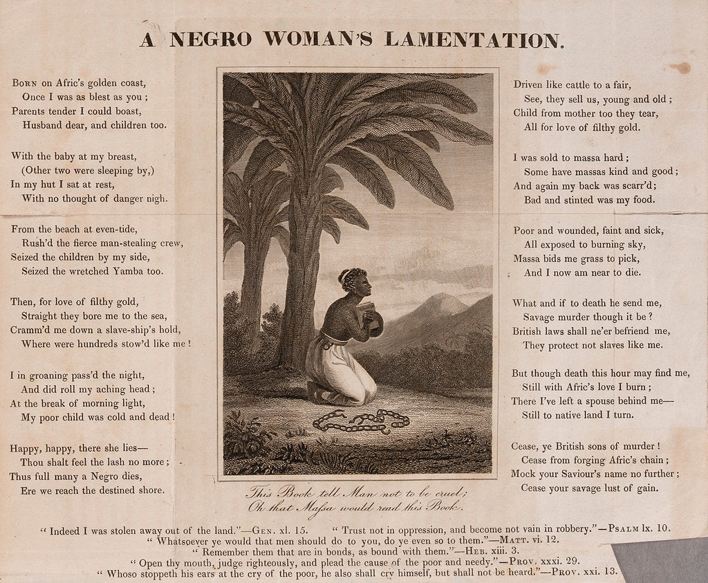 Detail of A Negro Woman's Lamentation by unknown