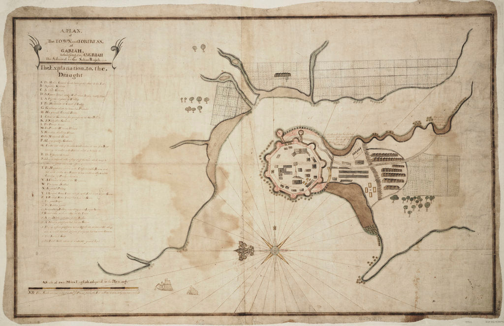 Detail of Plan of town and fortress of Gariah by unknown