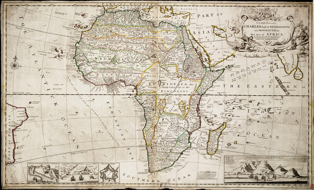Map of Africa by Herman Moll