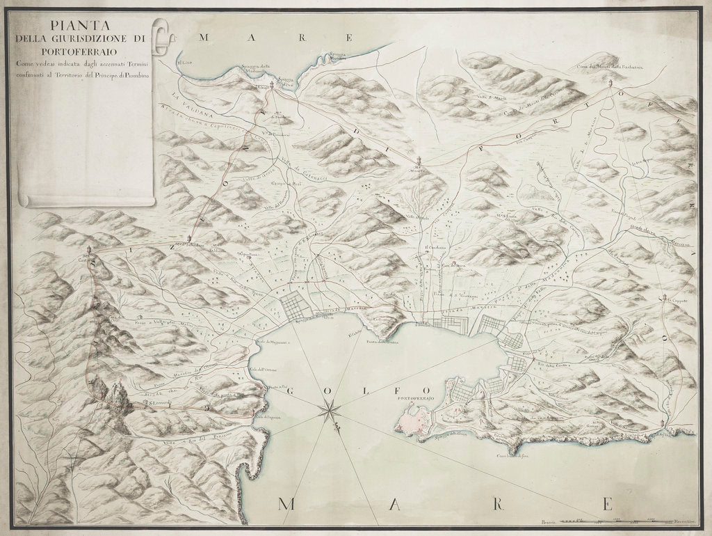 Map of Portoferraio on Elba by Anonymous