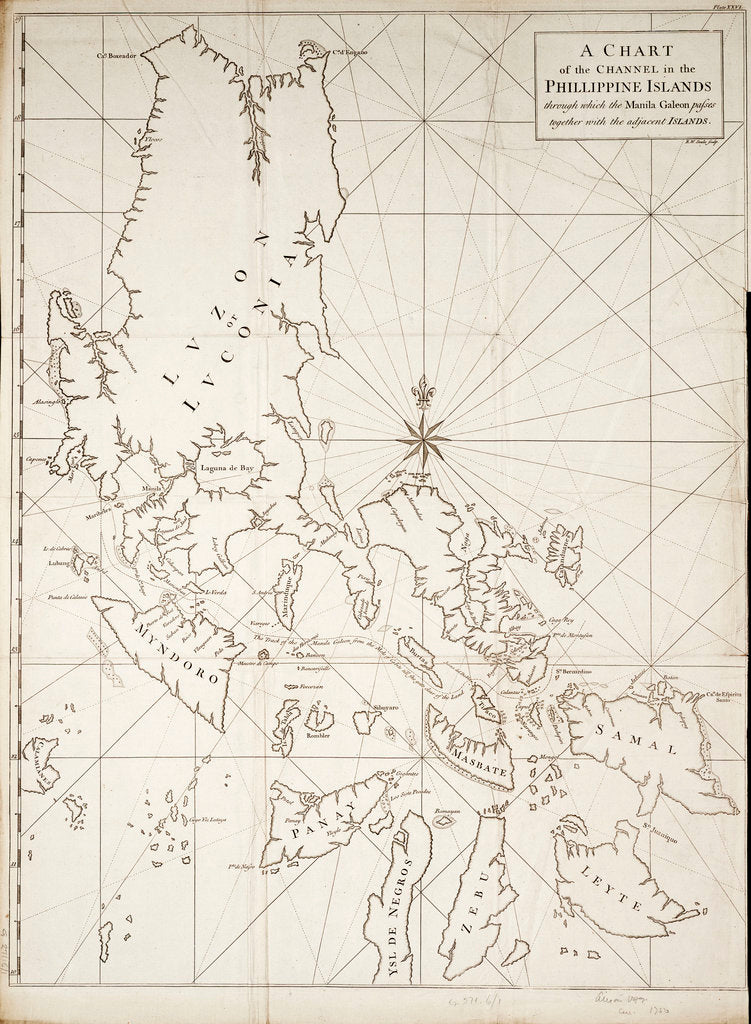 Detail of A chart of the channel in the Phillippine Islands through which the Manila Galeon passes together with the adjacent islands by RW Seale